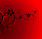 Flower pattern in red background Royalty Free Stock Photo