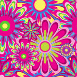 Flower pattern seamless background Royalty Free Stock Images