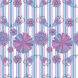 Flower pattern seamless background Royalty Free Stock Photos