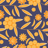 Flower pattern seamless background Stock Image