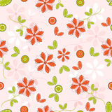 Flower pattern seamless background Stock Photo
