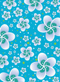 Flower pattern. Seamless flower pattern background Illustration Style Stock Image