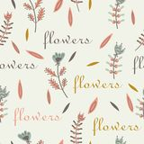 Flower pattern seamless decorative label design Stock Image