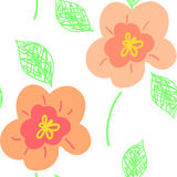 Flower pattern seamless Royalty Free Stock Images