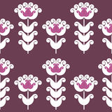 Flower pattern. Seamless pattern of stylized geometric flowers Royalty Free Stock Photography