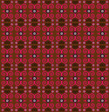 Flower pattern seamless texture. On brown background Stock Images