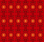 Flower pattern seamless texture. On red background Royalty Free Stock Photos