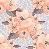 flower pattern seamless vector Arkivbilder