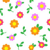 Flower pattern seamless. Flower seamless pattern. vector background Stock Photography