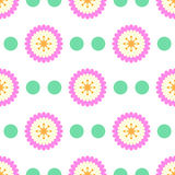 Flower pattern seamless. Flower seamless pattern. vector background Stock Photos