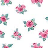 Flower pattern seamless in vector Stock Images