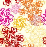 Flower Pattern seamless. Vector on white over Royalty Free Stock Images