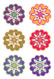 Flower pattern set Royalty Free Stock Images