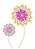 Flower pattern set Stock Photo