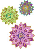 Flower pattern set Stock Photography
