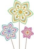 Flower pattern set Royalty Free Stock Photo