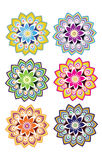 Flower pattern set Royalty Free Stock Image