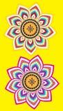 Flower pattern set Royalty Free Stock Photography