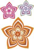 Flower pattern set Stock Images