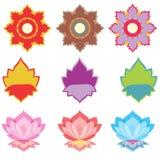 Flower pattern set Stock Image