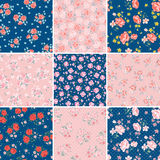 Flower pattern set Stock Photos
