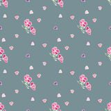 Flower pattern of small flowers. Seamless vector texture stock illustration