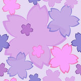 Flower pattern spring background. Seamless pattern, vector illustration Stock Photos