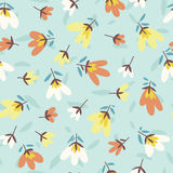Flower pattern. Spring vector hand-drawn doodle Stock Images