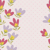 Flower pattern. Spring vector hand-drawn doodle Royalty Free Stock Images