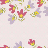 Flower pattern. Spring vector hand-drawn doodle Stock Image