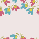 Flower pattern. Spring vector hand-drawn doodle Stock Photo