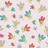 Flower pattern. Spring vector hand-drawn doodle Stock Photography