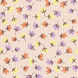 Flower pattern. Spring vector hand-drawn doodle Stock Photos
