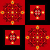 Flower pattern square background Royalty Free Stock Photos