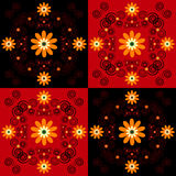 Flower pattern square background Stock Photography