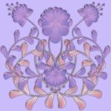 Flower pattern tile design glassy effect Stock Photos