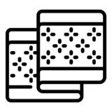 Flower pattern towel icon, outline style royalty free illustration