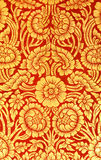 Flower pattern in traditional Thai style art painting on door of Stock Images