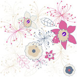 Flower pattern. Vector Royalty Free Stock Photos