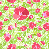 Flower pattern, vector graphics Royalty Free Stock Images