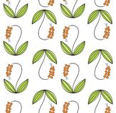 Flower pattern. Vector illustration of the Flower pattern Royalty Free Stock Images