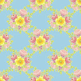 Flower pattern. Vector seamless background with flowers Royalty Free Stock Image