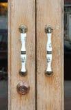 Flower pattern vintage door handle Royalty Free Stock Image