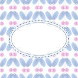 Flower pattern with vintage frame. Vector flower pattern with vintage frame Royalty Free Stock Photos