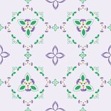 Flower pattern from Viola Tricolors seamless vector Stock Images