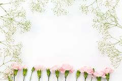 Flower pattern on the white background stock images