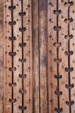 Flower pattern wood carving wall, Thailand. Flower pattern wood carving wall in Thailand stock photo