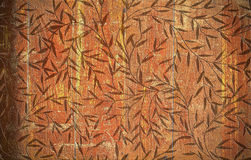 Flower pattern on wood texture Stock Photos