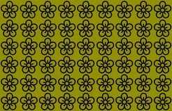 Flower Pattern with Yellow Background. Petals Design spread over clear background. Use Articles, Printing, Illustration,. Pattern with Yellow Background. Petals royalty free illustration