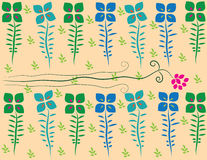 Flower patterned background. Background pattern of flowers made ​​with the program Royalty Free Stock Photo